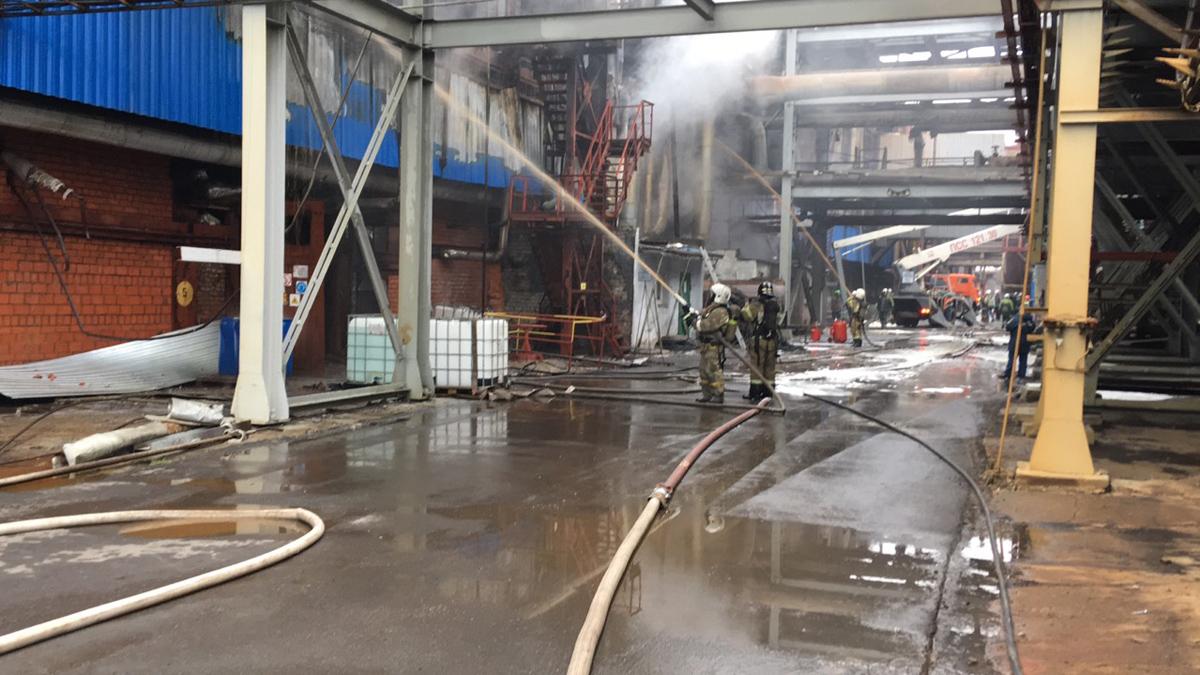 В Березниках ликвидировано возгорание в здании насосной  «АЗОТ» АО «УРАЛХИМ»