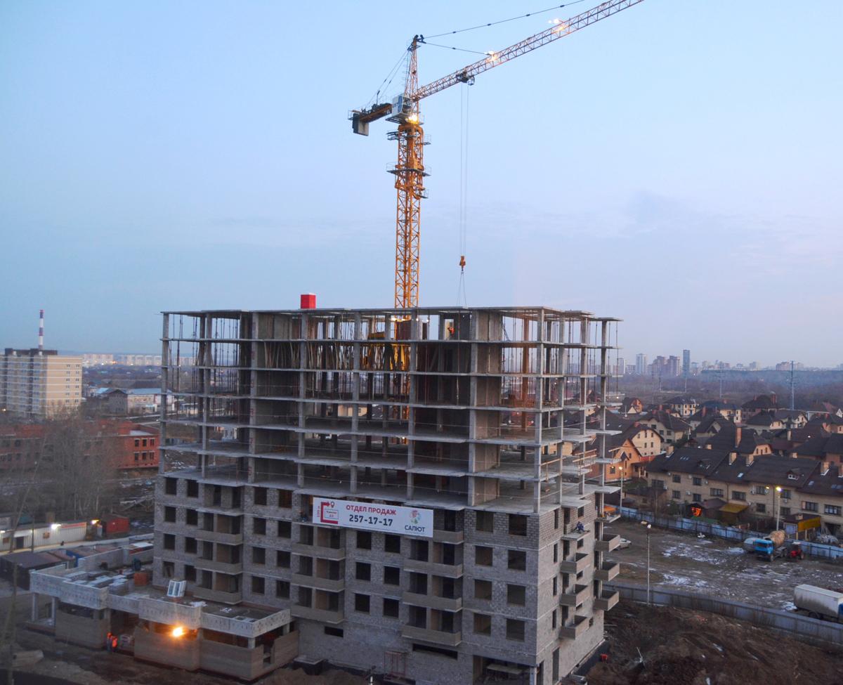 11 этаж ЖК «Салют» закончен на 85%