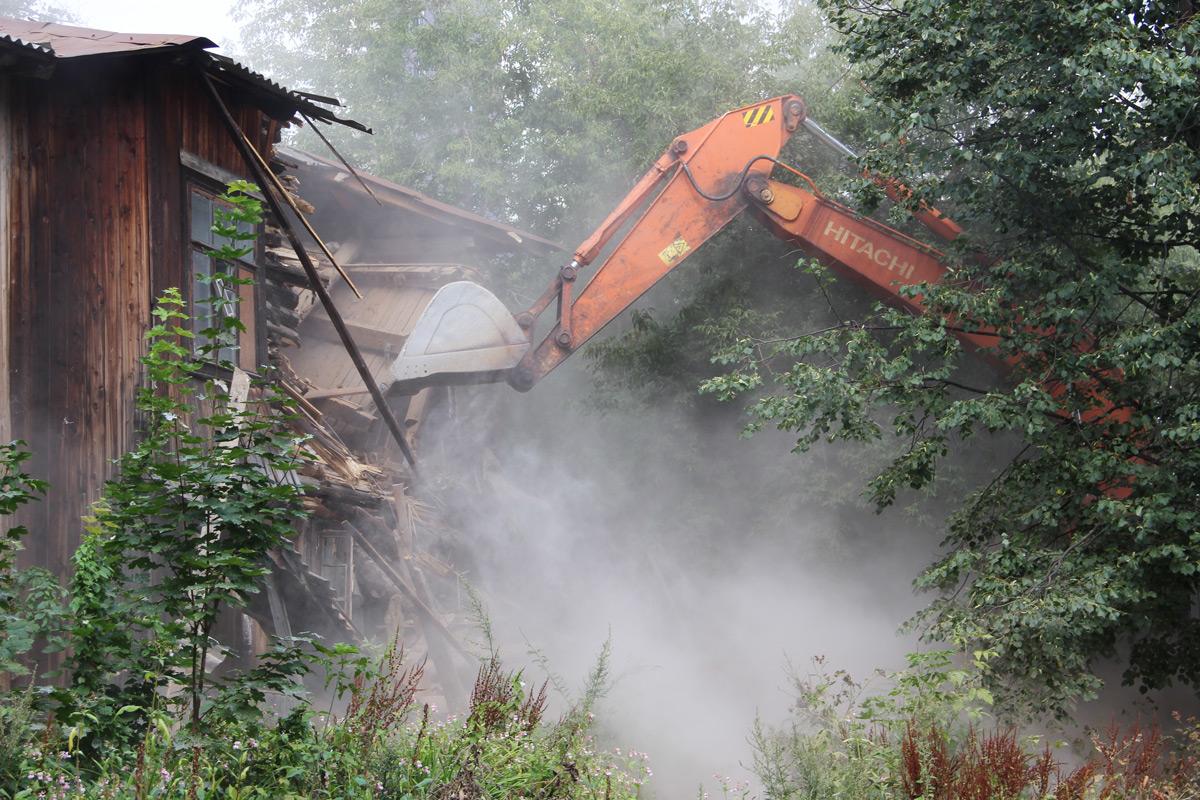 В 2017 году в Перми снесено 70 ветхих и аварийных домов