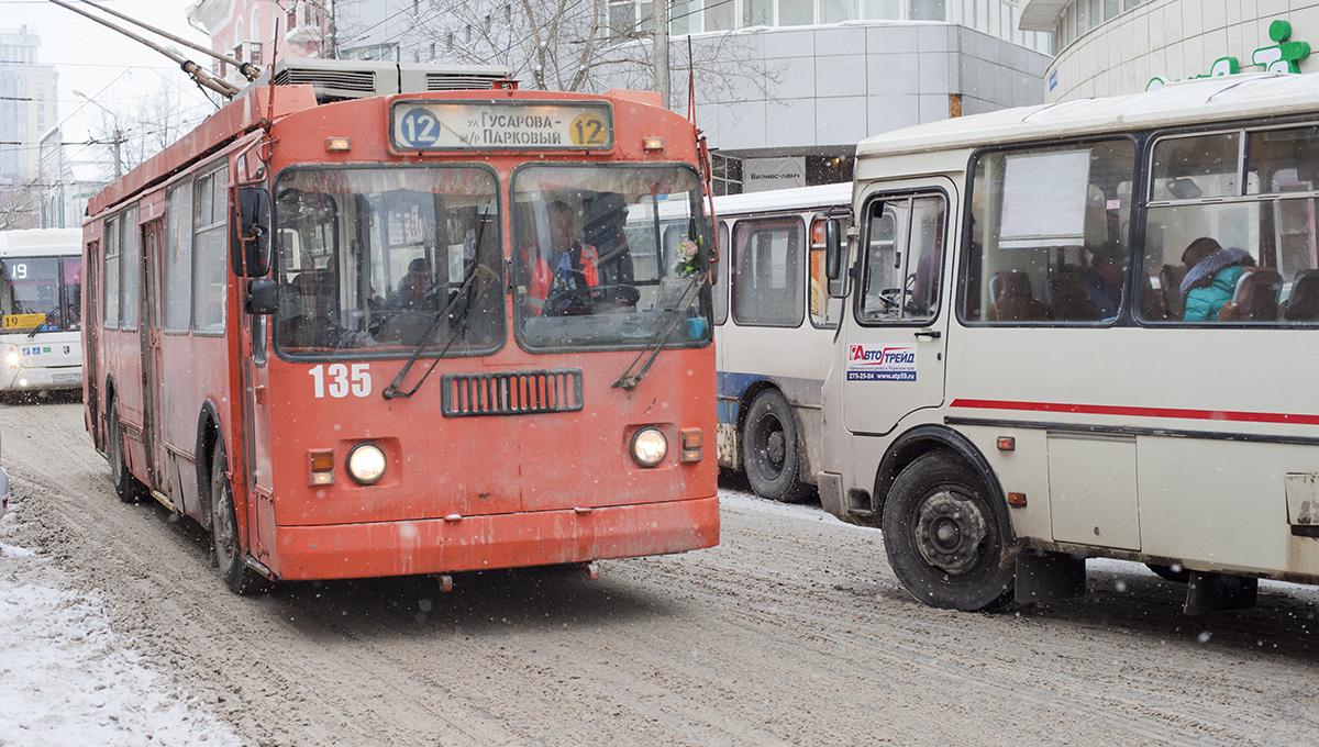 В выходные в Перми изменится движение троллейбусных маршрутов
